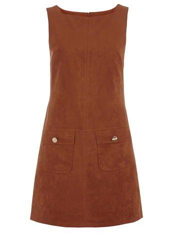 ginger suedette pinny dress