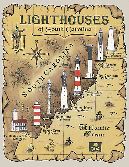 lighthouses in south carolina Read more about life in the South Carolina Lowcountry at http://ouryardfarmhome.com and http://on.fb.me/1sCgEpa
