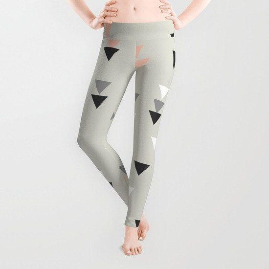 Geometric leggings workout yoga printed leggings womens yoga pants pink gray white running leggings