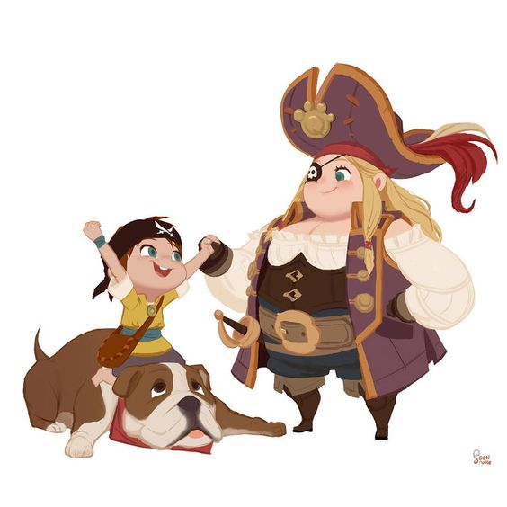 """personal project - The sea king contest. Bobby skunk team ""Barbara & Cola and Chupa"" #soonsangworks #art #animation #illustration #digitalart #instaart…"""