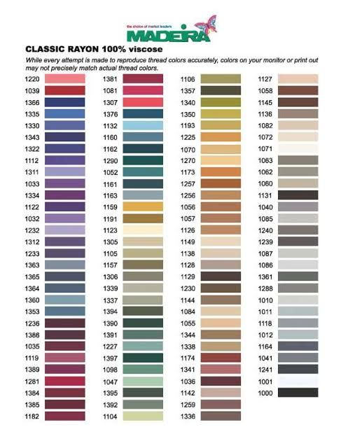 Janome Embroidery Thread Colour Chart Google Search Janome Embroidery Embroidery Thread Embroidery