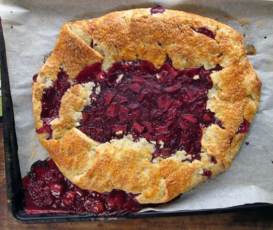 Rhubarb And Raspberry Crostata Recipe — Dishmaps