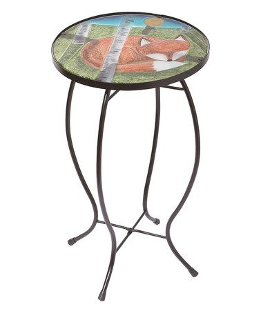 Another great find on #zulily! Glass & Metal Napping Fox Accent Table #zulilyfinds