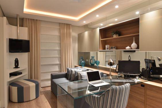 Apartamento Orla Marítima : Escritórios modernos por ANNA MAYA & ANDERSON SCHUSSLER