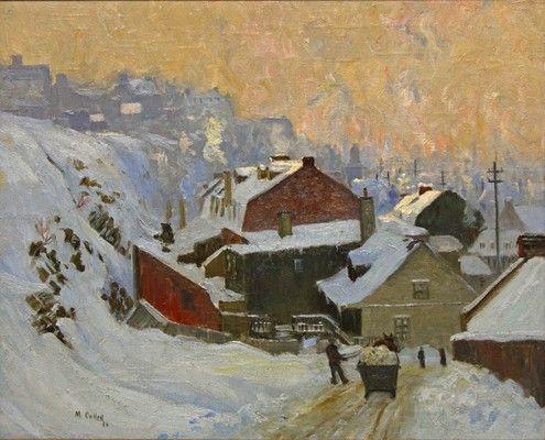 Galerie Alan Klinkhoff Maurice CULLEN La Basse-Ville de Québec Huile sur toile 22 ¼ x 27 ¼ po.