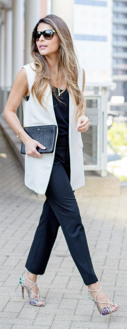White Vest Outfit Idea by The Girl From Panama: