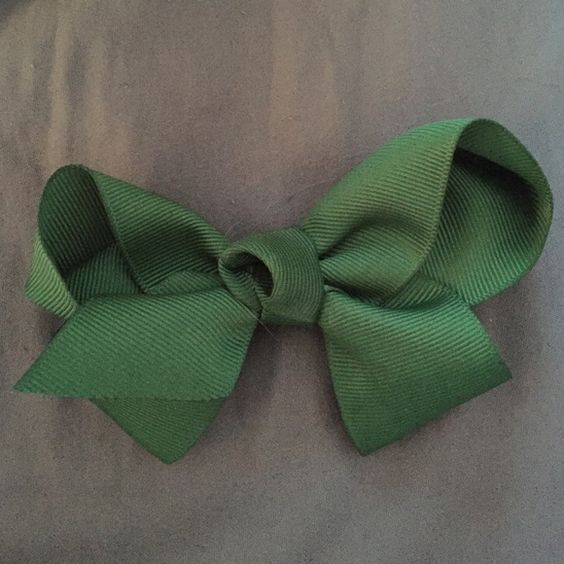 Hunter green hair bow Handmade ribbon hair bow Accessories Hair Accessories