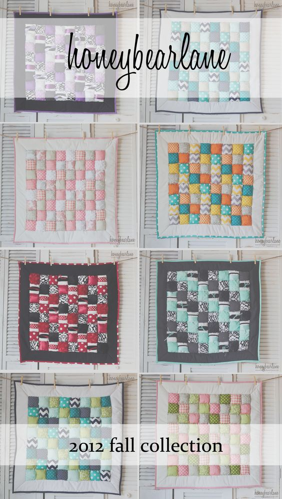 adorable new puff quilts from Honeybear Lane!