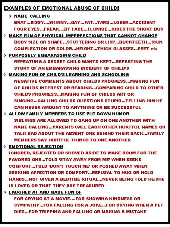 Examples Of Emotional Abuse Against Children Vawc Violence