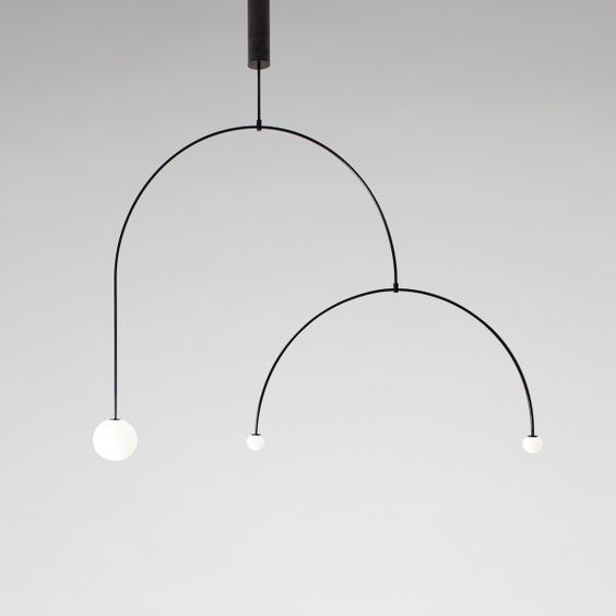 Michael Anastassiades creates minimalistic weightless Mobile Chandeliers: