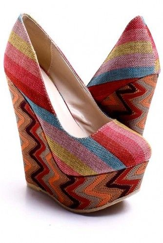 Loving these Platforms. I can see a cute black pair of shorts or a denim skirt with them