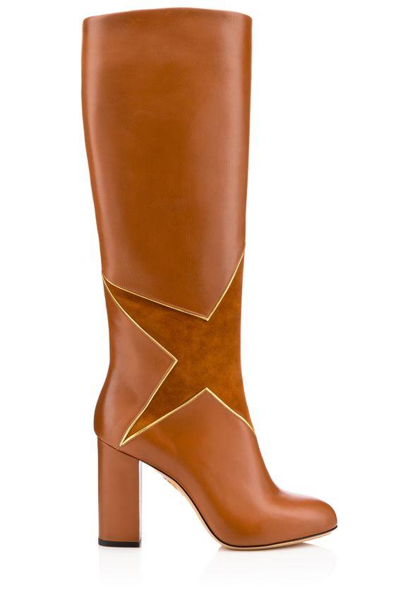 Charlotte Olympia   Tall camel boots [Photo: Courtesy]