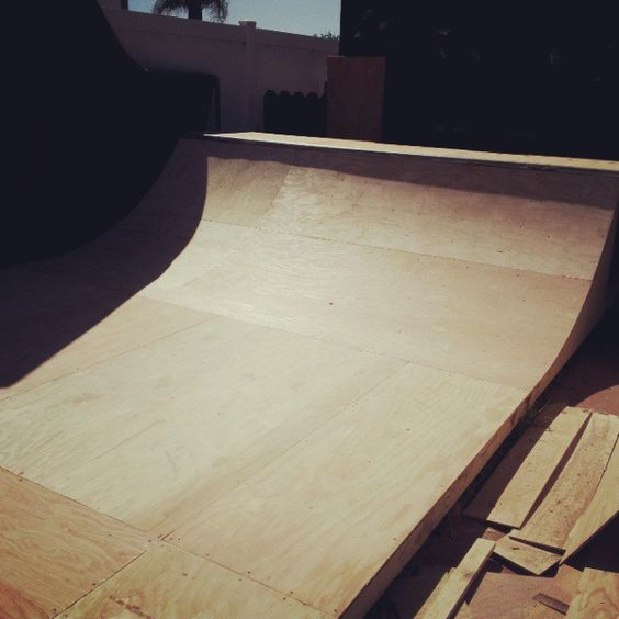 Built this today. Too hot to skate!