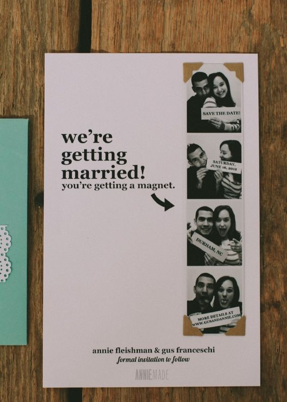 diy photostrip magnet save the dates free templates With diy save the date magnets template