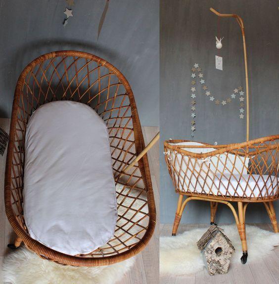 berceau enfant rotin trendy little chambres d 39 enfants kids room pinterest beautiful. Black Bedroom Furniture Sets. Home Design Ideas