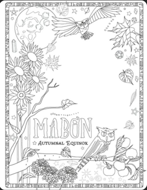 Mabon Crafts With Kids Witch Coloring Pages Book Of Shadows Coloring Books
