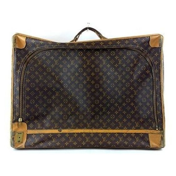 Pre-Owned Louis Vuitton Vintage Monogram Luggage ($400) ❤ liked on Polyvore featuring bags, luggage and multi