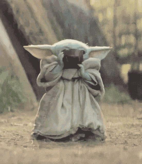 Baby Yoda Is All The Things Yoda Gif Star Wars Yoda Yoda
