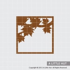 Stencil ideas - leaves in frame