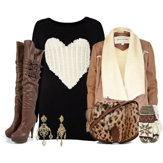 """""""safe and sound"""" by vanessashark on Polyvore #winter #shearling #trends"""
