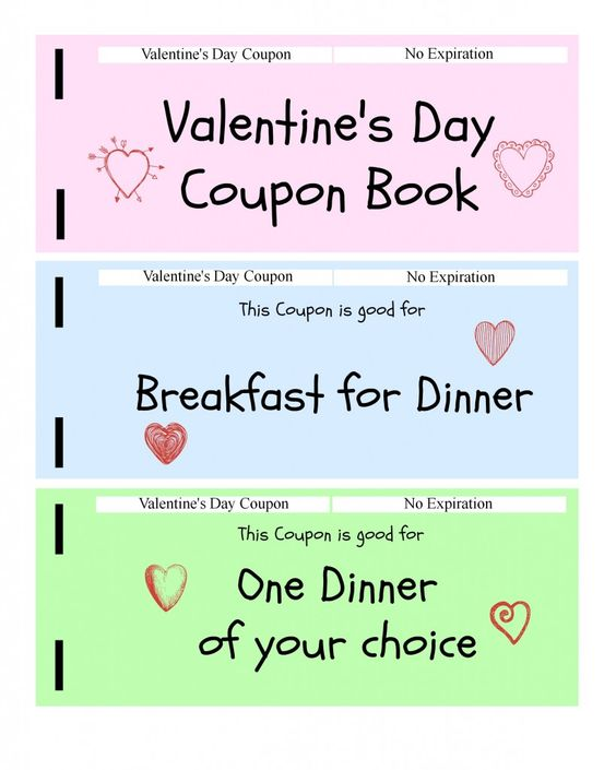 Coupon Books Kids Valentines And Valentine Day Gifts On