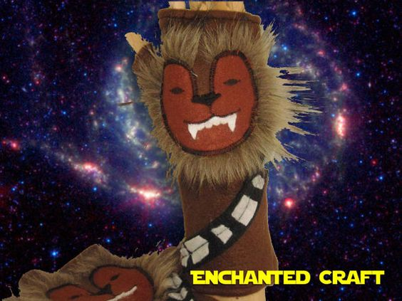 Chewbacca Fingerless Gloves for Fans of Star by EnchantedCraft, $28.00