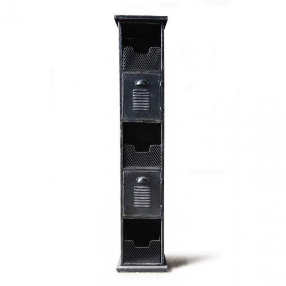 "Metallschrank ""Yorkville"", T 35 cm, B 30 cm, H 150 cm"