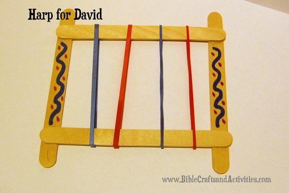 I can worship God craft idea - cute David's harp