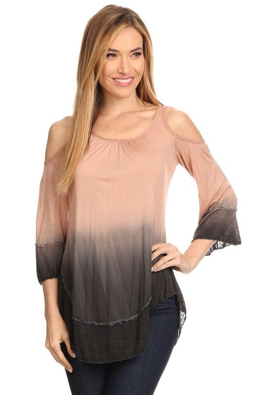 Ombre Top with Tie Back