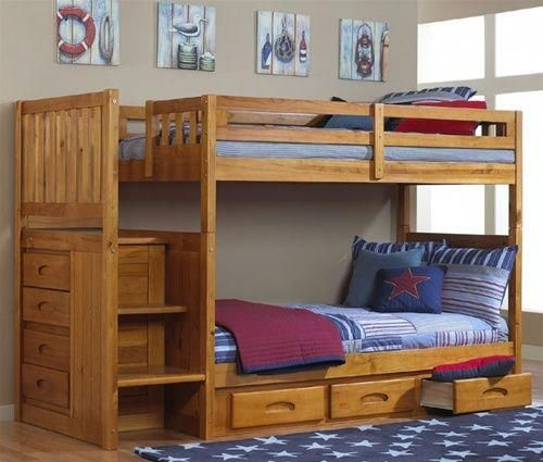 9733 Buy The Honey Mission Stair Stepper Bunk Bed At Kids Furniture Warehouse In Orlando 9733 Discov Bunk Bed With Desk Cool Bunk Beds Staircase Bunk Bed