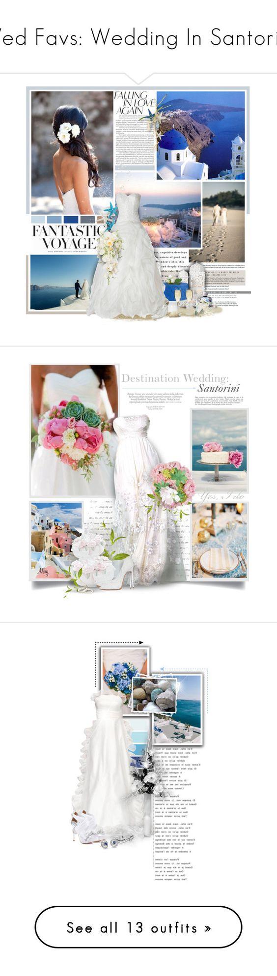 """Wed Favs: Wedding In Santorini"" by anna-nemesis ❤ liked on Polyvore featuring wedding, Greece, H&M, Casablanca, Christian Dior, Avance, René Caovilla, Calla, Bottega Veneta and Anja"