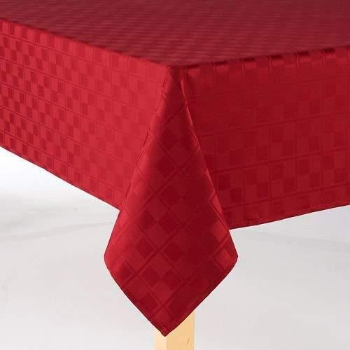 """72/"""" x 72/"""" ADD/&SHIP Checkered Polyester Square Tablecloth Perfect for Parties"""