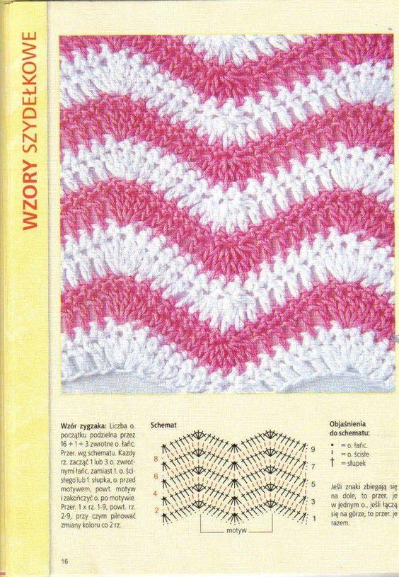 Crochet stitch | blankets | Pinterest | Puntadas, Patrones y Croché