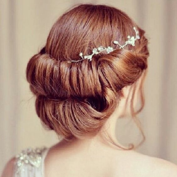 Süße Hochzeitsfrisur