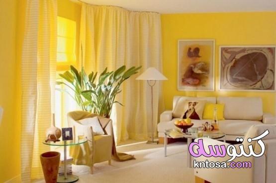 ماهي الالوان التي تناسب اللون الاصفر في الديكور كيفية استخدام اللون الأصفر في الداخل بالصور Kntos Interior Design Yellow Interior Design Styles Interior Design