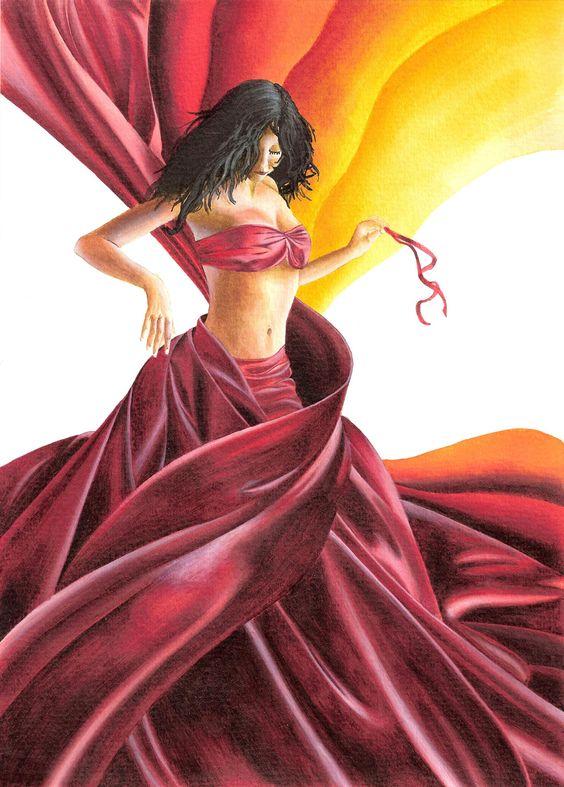 Acrylic paint illustration - Nicolas Lantoine #acrylic #dress #illustration