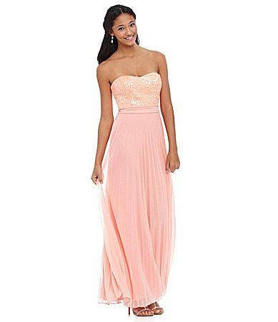 Xtraordinary Sequin Pleated Gown #Dillards Bridesmaids Dress | I'm ...