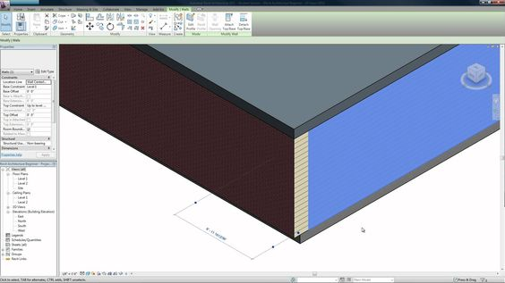 Revit Architecture 2011 Beginners Tutorial - 4 (Windows, Doors, Wall Assembly), via YouTube.