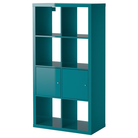 Office furniture ikea living room and storage on pinterest for Ikea turquoise shelf