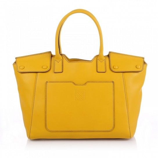 Handbag in pelle gialla Gherardini #glamour