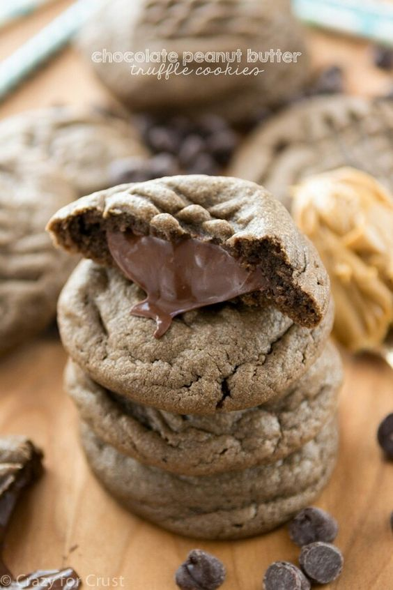 Chocolate Peanut Butter Truffle Cookies