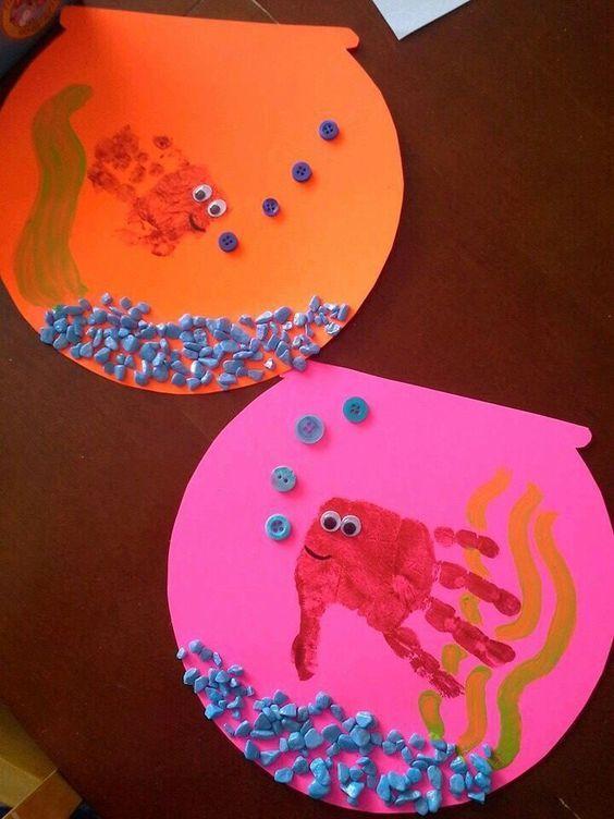 Hand Print Spring Crafts for Kids