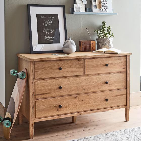 Fairfax 4 Drawer Wide Dresser Bedroom Furniture Inspiration Furniture Wide Dresser