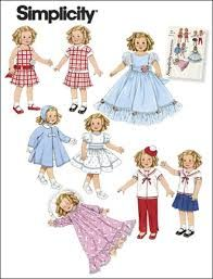 simplicity pattern 18 inch doll - Google Search