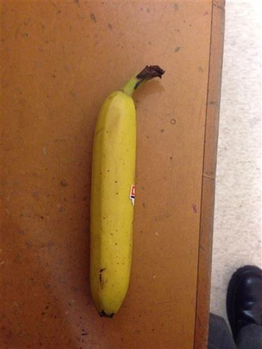 This banana is almost perfectly straight