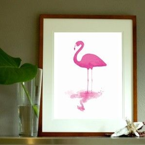 Flamingo in Magenta PRINT