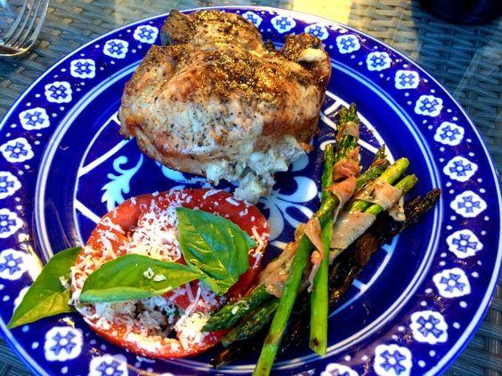 stuffed pork chops on the big green egg | Summer Cookout Grilling ...