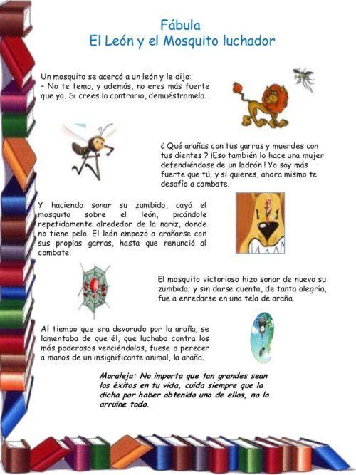 Actividades Para Practicar La Lectura Para 5to Grado Por Cleeyalee Rivera 10 638 Letras De Canciones Infantiles Cuentos Infantiles Para Leer Fabulas Cortas