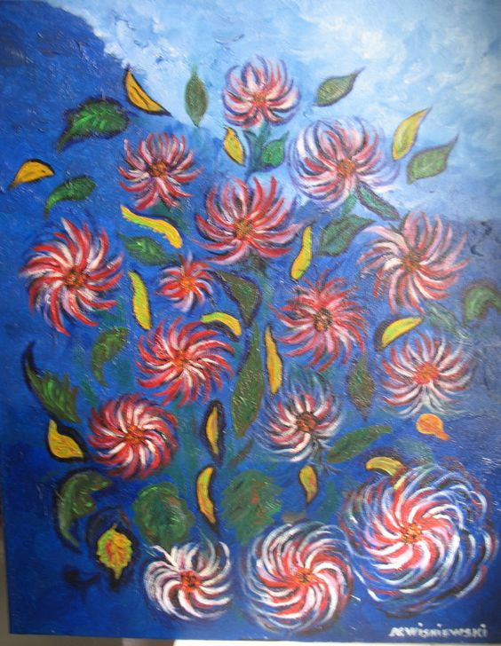 Nicole Wisniewski - née en 1949 - fleurs extraordinaires