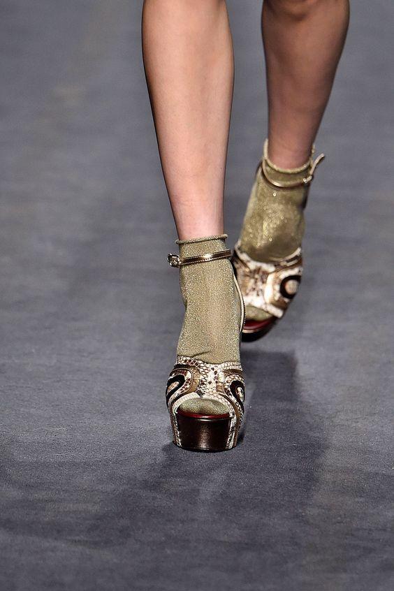 Resultado de imagem para lurex street style socks looks